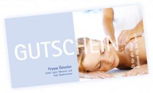 Gutscheinbestellung für Massagen